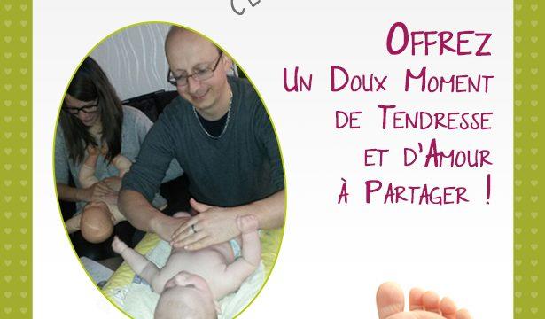 Idée cadeau pour la fête des pères : un atelier massage pour bébé et enfants, Entre Nancy et Toul